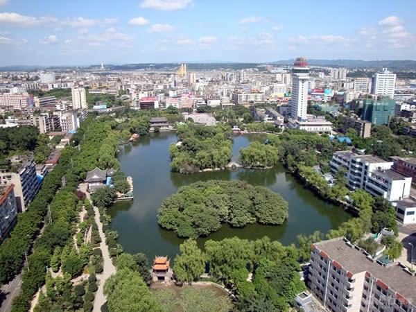 北湖公园 郴州市北湖公园 郴州旅游景点
