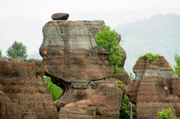 红石林 古丈红石林景区 湘西旅游景点
